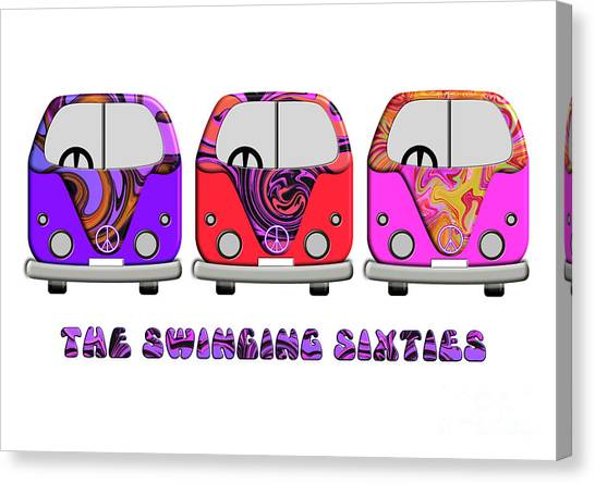 The Swinging Sixties Canvas Print