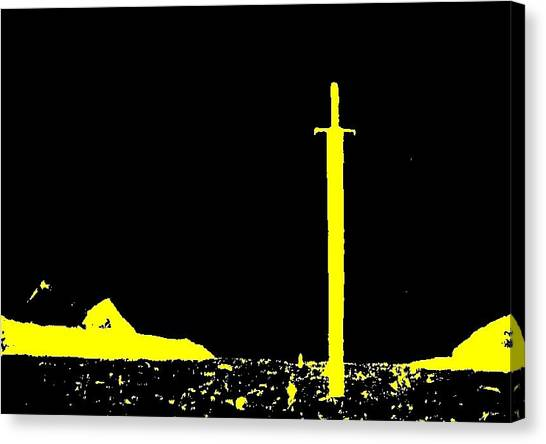 The Sword Canvas Print by Teo Spiller