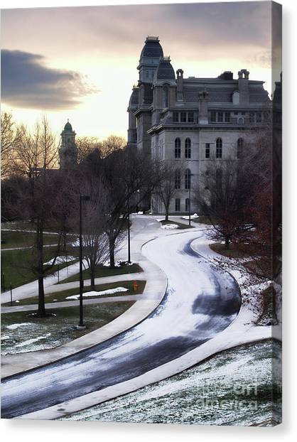 The Syracuse University Hall Of Languages Canvas Print by Debra Millet