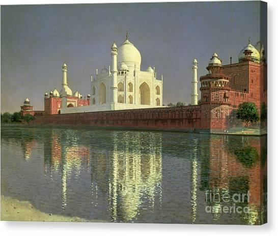 Wonders Of The World Canvas Print - The Taj Mahal by Vasili Vasilievich Vereshchagin