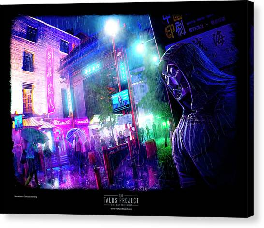 Bladerunner Canvas Print - The Talos Project Chinatown Concept by Giorgos Chronopoulos