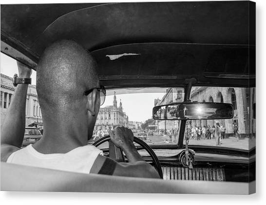 From The Taxi Canvas Print