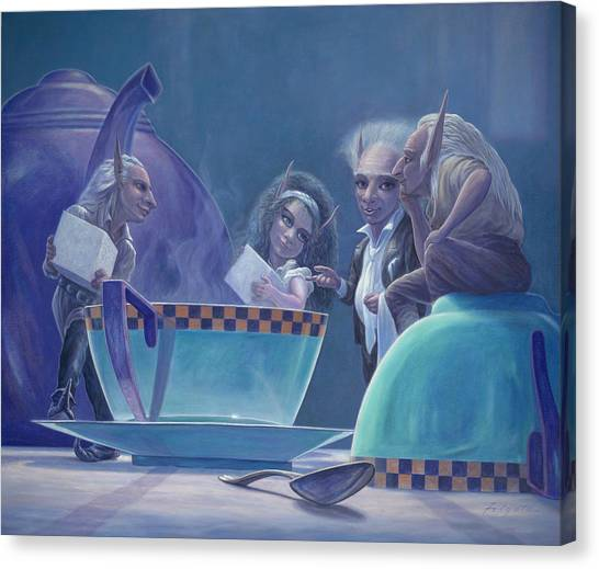 Party Canvas Print - The Tea Party by Leonard Filgate