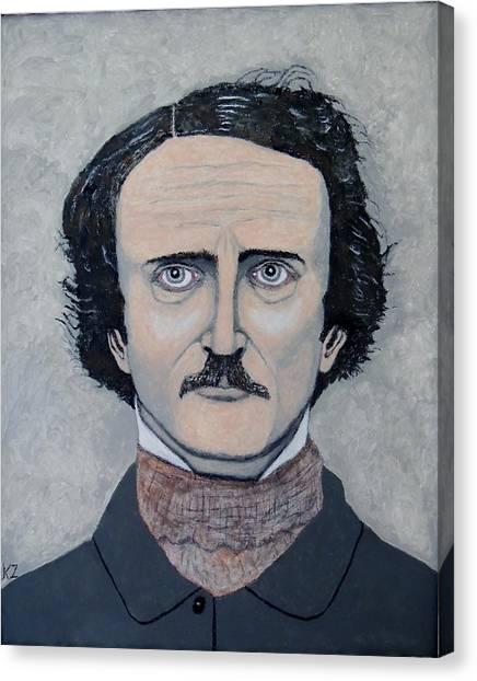 The Telltale Heart Of Edgar Allen Poe. Canvas Print