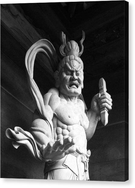 The Temple Guardian Canvas Print