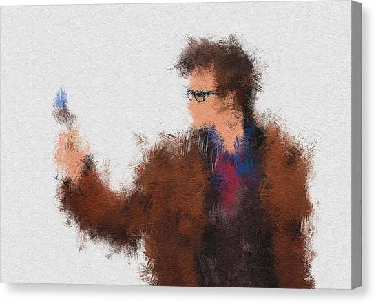 Tardis Canvas Print - The Tenth Doctor by Miranda Sether