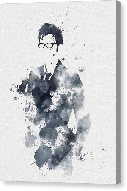 David Canvas Print - The Tenth Doctor by Rebecca Jenkins