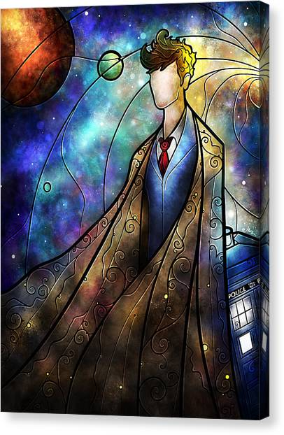 Space Suit Canvas Print - The Tenth by Mandie Manzano
