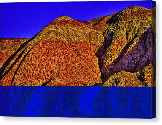 The Tepees Up Close Canvas Print