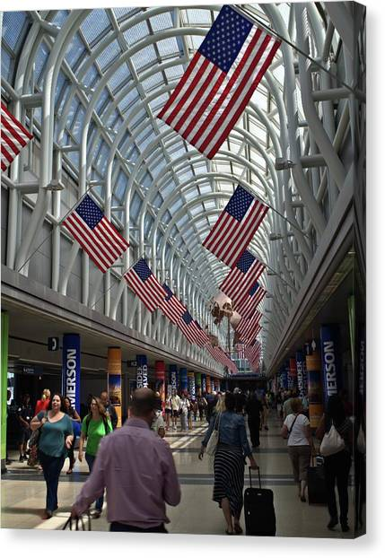 The Terminal Walkway Canvas Print