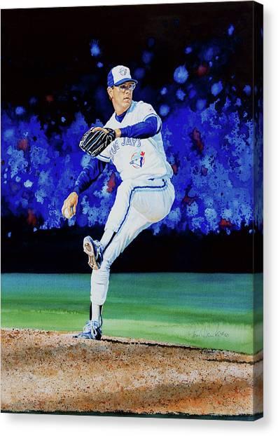 Toronto Blue Jays Canvas Print - The Terminator by Hanne Lore Koehler
