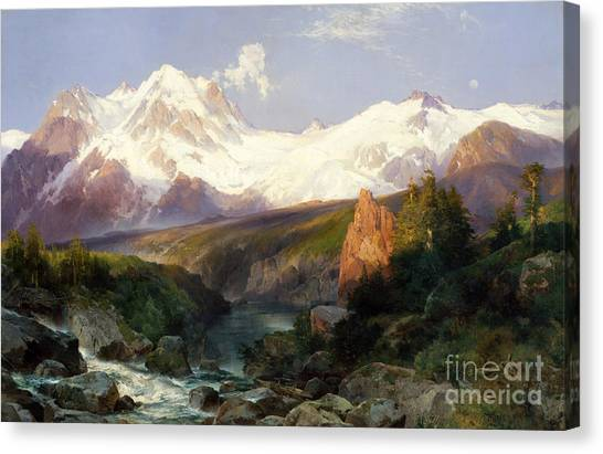 Teton Canvas Print - The Teton Range, 1897 by Thomas Moran