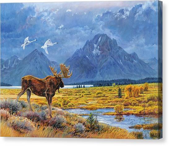 The Teton Trio Canvas Print