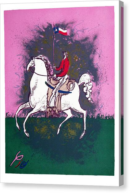 The Texan Canvas Print by Pio Pulido