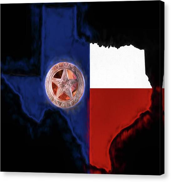 Texas Rangers Canvas Print - The Texas Rangers by JC Findley