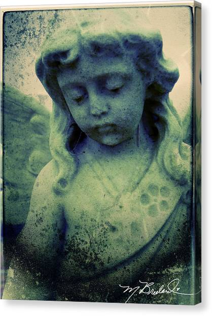 The Texture Of Sadness Canvas Print by Melissa Wyatt