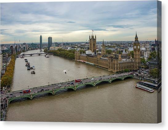 The Thames At Sunset Canvas Print