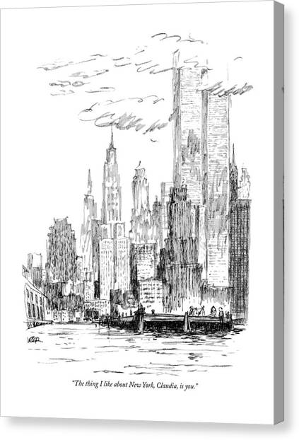 The Thing I Like About New York Canvas Print