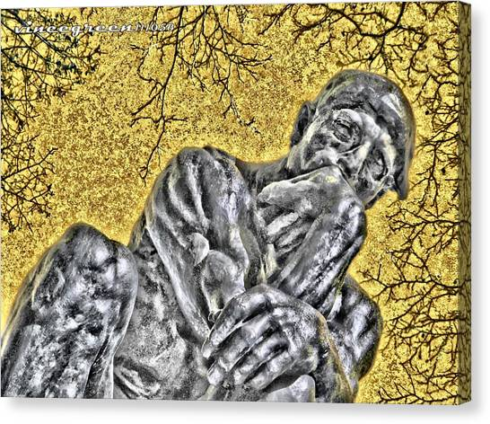 The Thinker - Study #1 Canvas Print