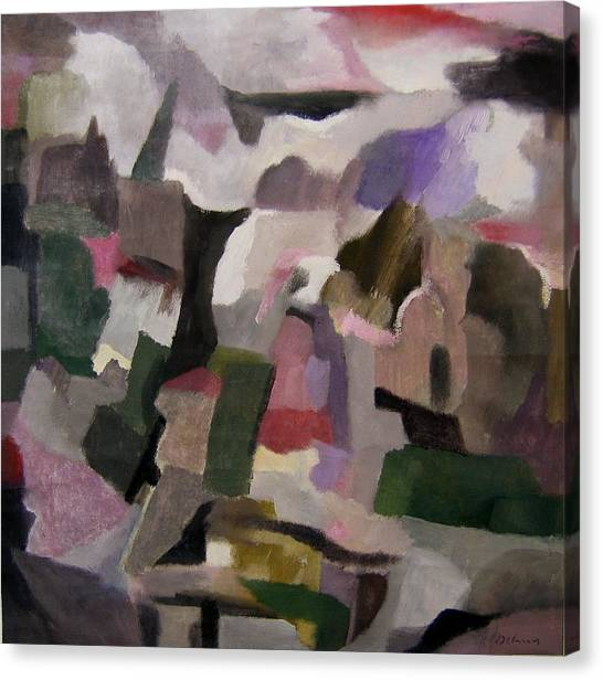 The Thoughts Of Cezanne Canvas Print by Adolfo De Turris