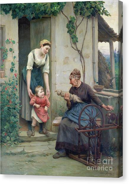 Nasturtiums Canvas Print - The Three Ages by Jules Scalbert