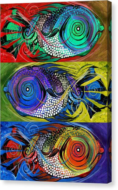 The Three Fishes Canvas Print