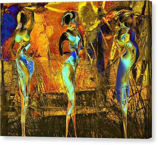 The Three Graces Canvas Print by Anne Weirich