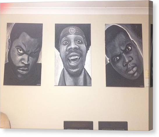 Wu Tang Canvas Print - The Three Kings  by Chris Griffiths