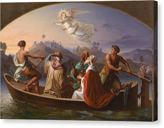 Binders Canvas Print - The Three Kings On Their Journey To Bethlehem by Joseph Binder