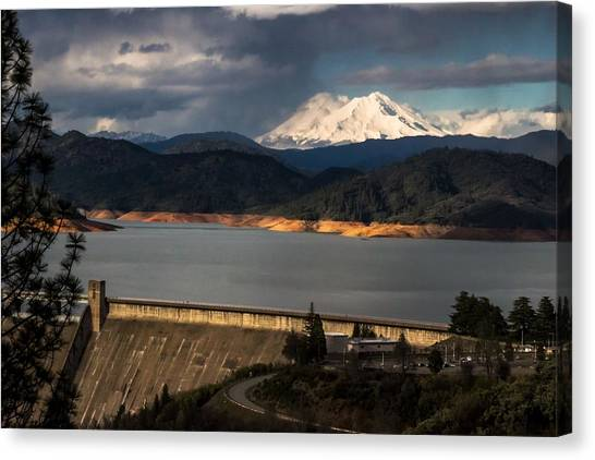 The Three Shasta's Canvas Print