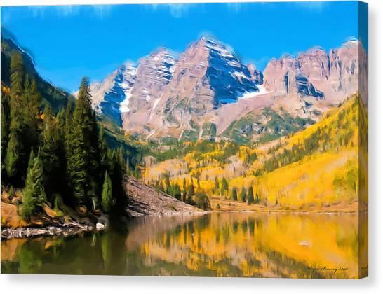 The Three Sisters Canvas Print by Wayne Bonney