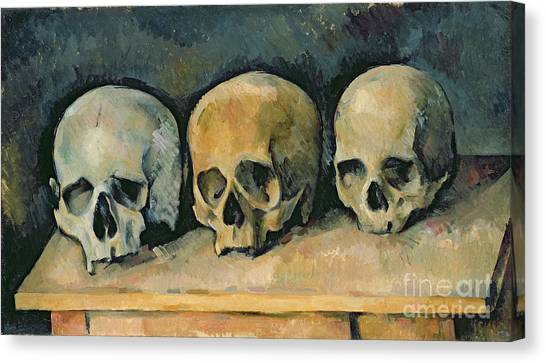 Tables Canvas Print - The Three Skulls by Paul Cezanne