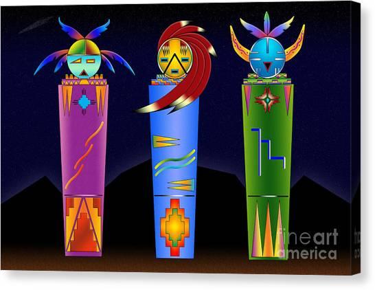 The Three Spirits Canvas Print
