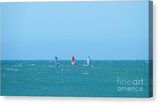 The Three Surfers Canvas Print