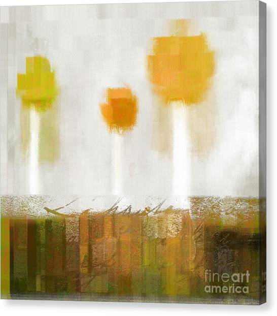 Cubism Canvas Print - The Three Trees - 0304d by Variance Collections