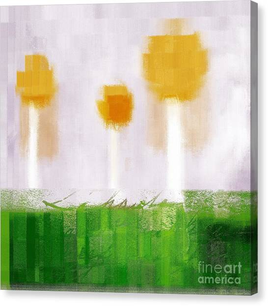 Cubism Canvas Print - The Three Trees - 3305-t3t by Variance Collections