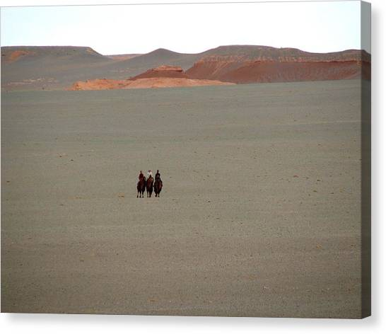 The Three Wisewomen Of The Gobi Canvas Print