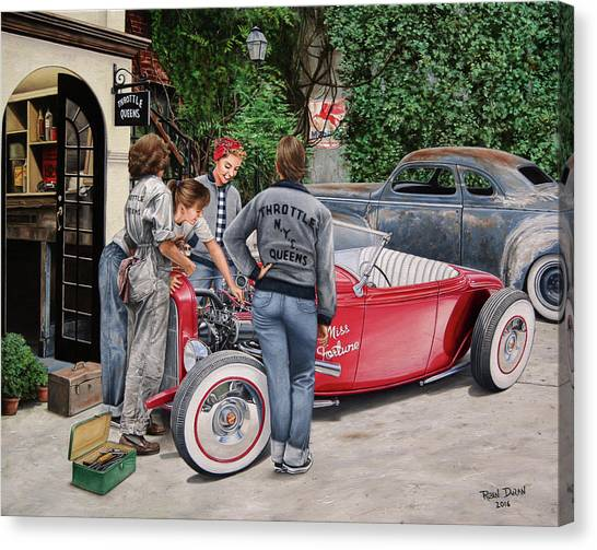 The Throttle Queens Canvas Print by Ruben Duran