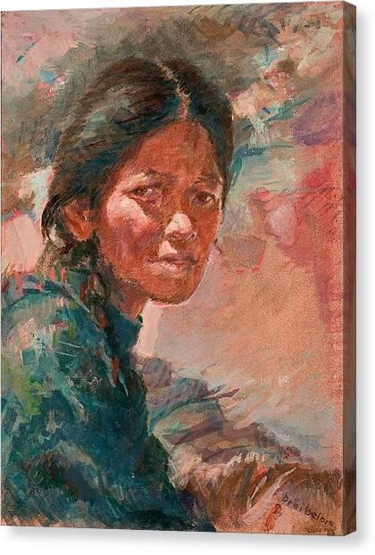 The Tibetan Girl Canvas Print