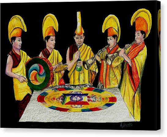The Tibetan Monks At Lilydale Assembly Canvas Print