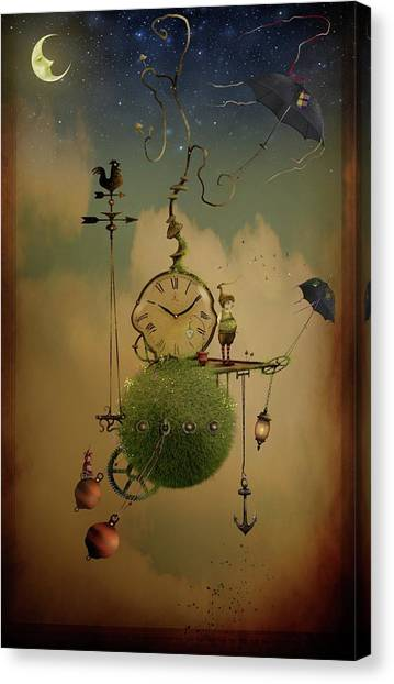 The Time Chasers Canvas Print