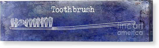 Toothbrush Canvas Print - The Toothbrush Blue by Jon Neidert