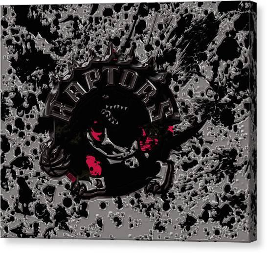 Brooklyn Nets Canvas Print - The Toronto Raptors 1b by Brian Reaves