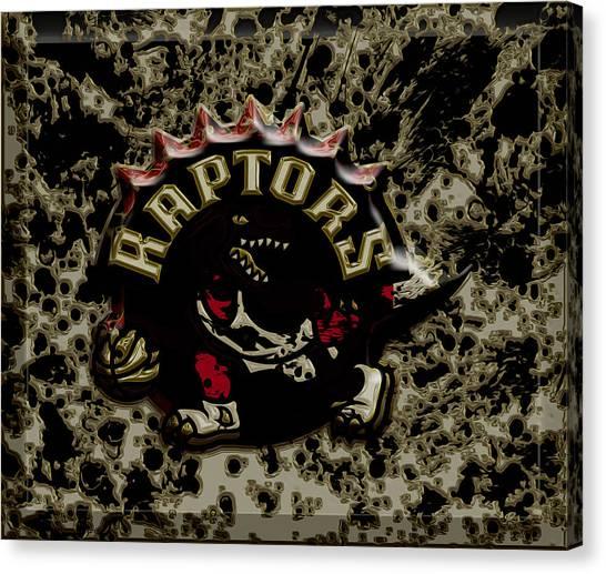 Brooklyn Nets Canvas Print - The Toronto Raptors 1c by Brian Reaves