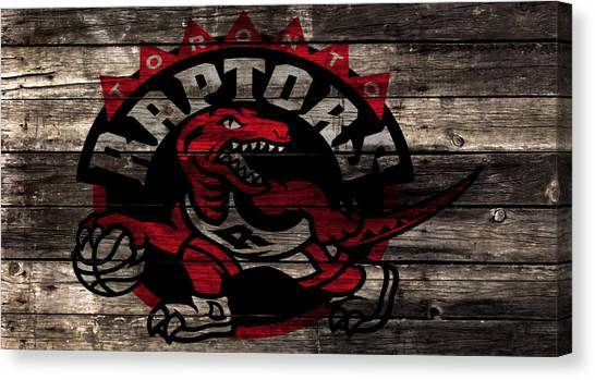 Brooklyn Nets Canvas Print - The Toronto Raptors 2a by Brian Reaves