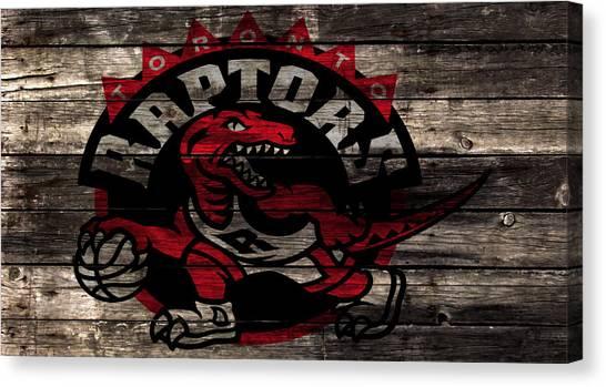 Brooklyn Nets Canvas Print - The Toronto Raptors 2b by Brian Reaves
