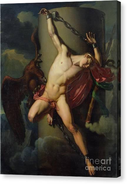 Birds Of Prey Canvas Print - The Torture Of Prometheus by Jean-Louis-Cesar Lair