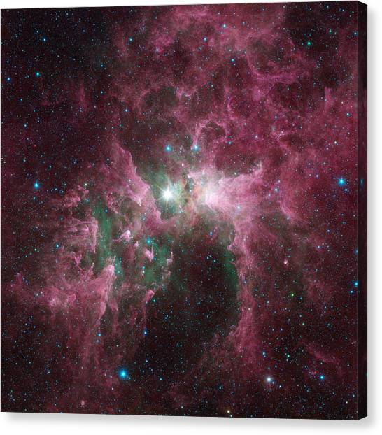 Stellar Canvas Print - The Tortured Clouds Of Eta Carinae by Nasa
