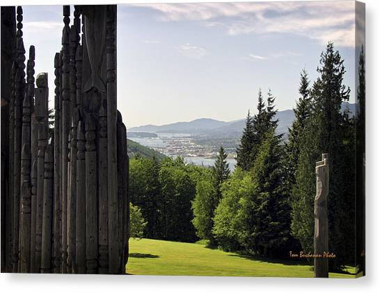 The Totems Watching Canvas Print