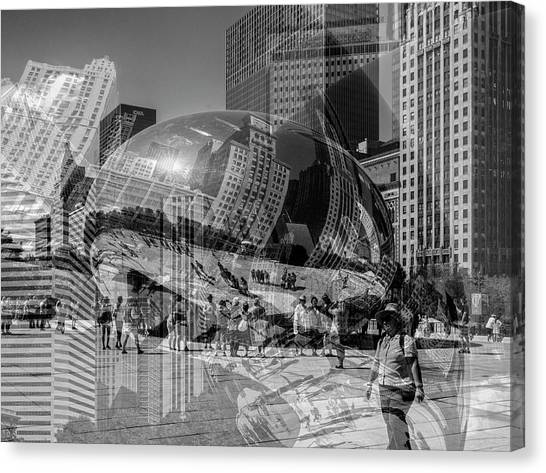 The Tourists - Chicago Canvas Print
